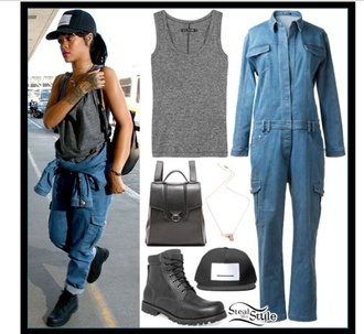 jumpsuit top grey sweater rihanna