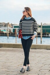 prosecco and plaid,blogger,sweater,shirt,jeans,shoes,bag,jewels,make-up,sunglasses
