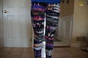 pants,spray paint,leggings,printed leggings,graffiti,colorful