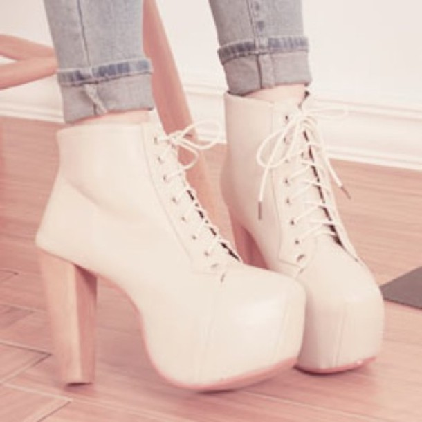 shoes pink heels boots laces cute tumblr wheretoget