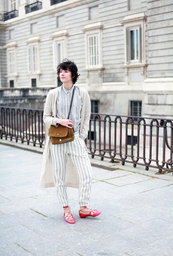 che cosa blogger pants cardigan bag