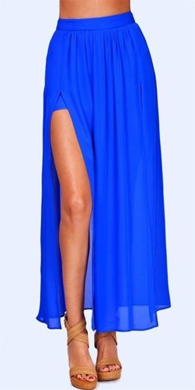 Hope - Pleated Slit Maxi Skirt - / inspiring - Juxtapost