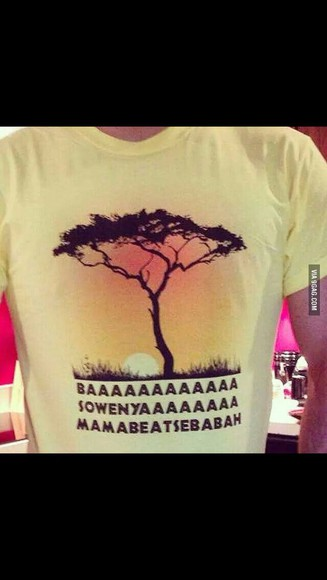 yellow king of lion tree hakuna matata mufasa