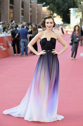 dress lily collins elie saab gown