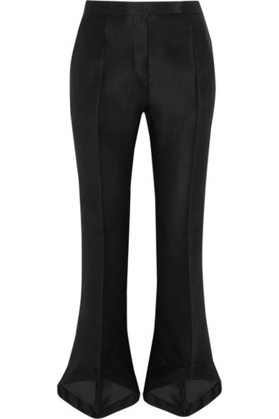 Antonio Berardi pants cropped cotton black silk