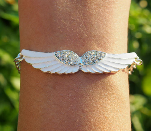 Angel wing bracelet bling diamond chain bracelet for girl, Charm Chain bracelet, Best Gift Jewelry for Girl Friend Online Buy | Personalized Bracelets | Custom Necklace | Wholesale craft supplies | Turntopretty