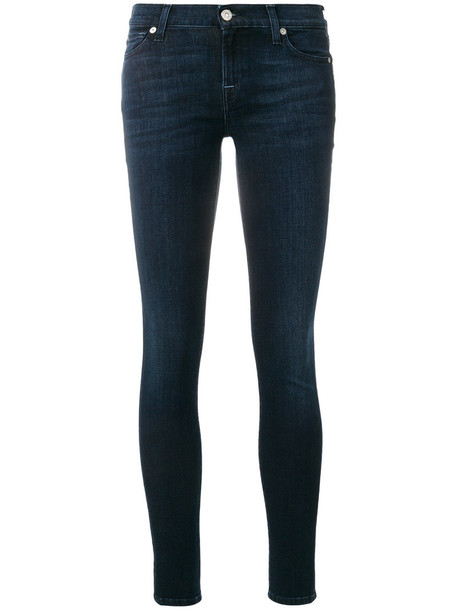 7 For All Mankind jeans skinny jeans women classic spandex cotton blue