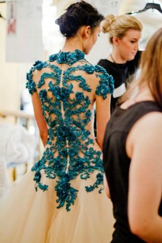 dress wedding dress wedding white blue lace ootd back open back lace dress maxi dress prom dress