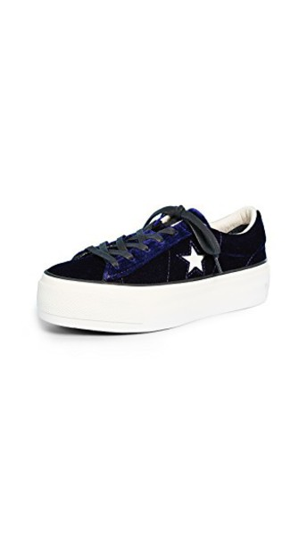 converse sneakers blue black shoes