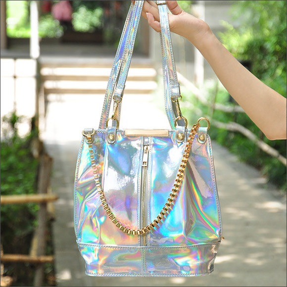 bag laser bag holographic bag hologram bagckpack bucket bag backpack