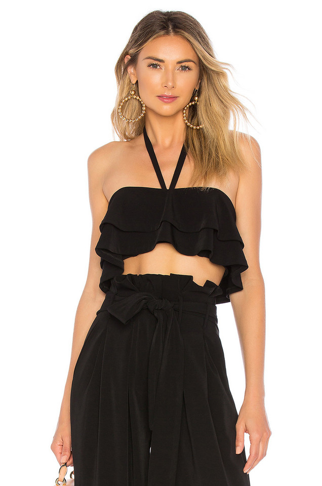 Chrissy Teigen x REVOLVE Karwayna Top in black
