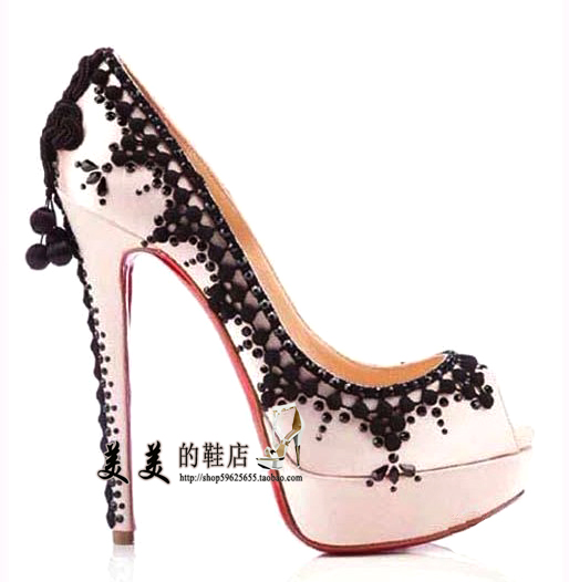 Taobao European and American big fish head high heel shoes CL red shoes rhinestones CL high heel shoes fish head shoes wedding shoes evening shoesrxsrsusonlm from English Agent:BuyChina.com