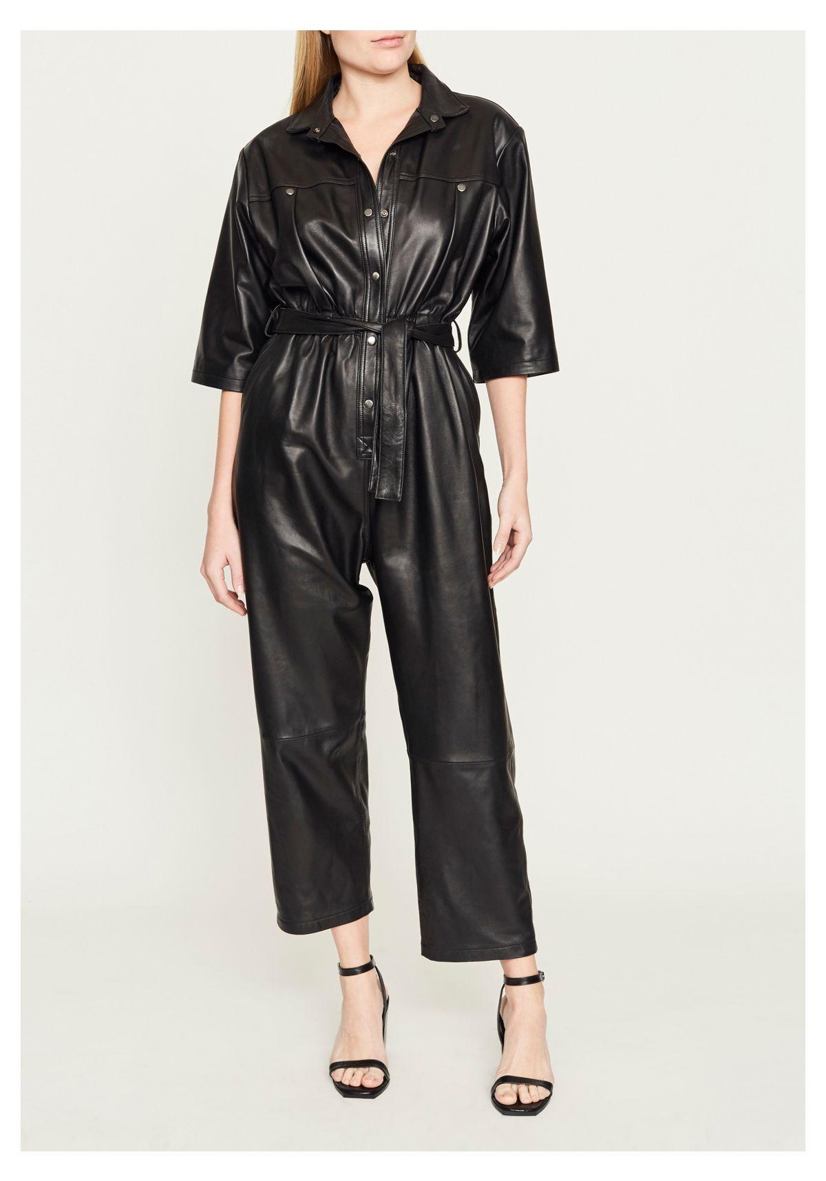 Leah Leather Jumpsuit