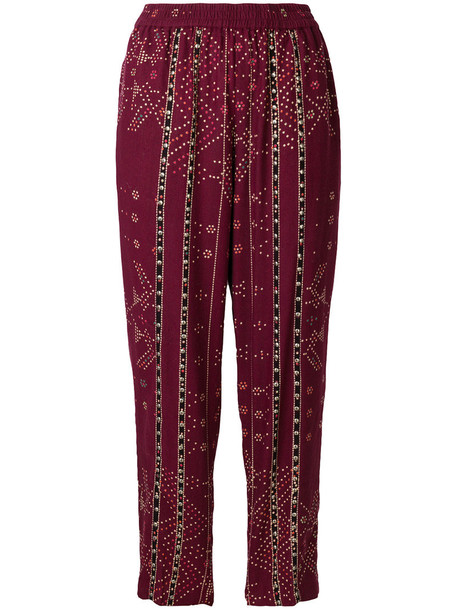 MES DEMOISELLES women silk red pants