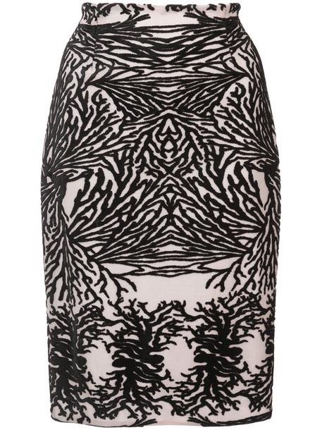 Yigal Azrouel skirt pencil skirt women spandex black coral