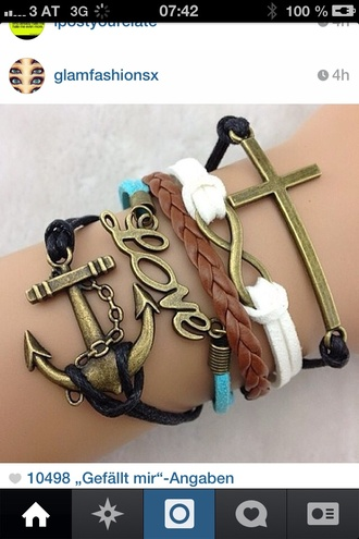 jewels infinity black cross stacking bracelets bracelets beeds