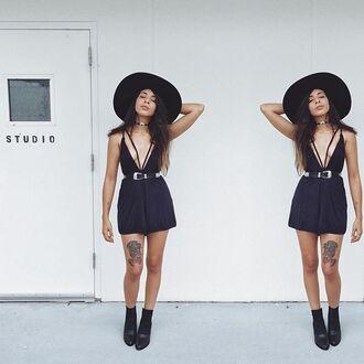 hat nastygal black black hat floppy girl felt