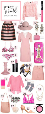 striped skirt,galentines day,all pink everything,all pink wishlist,pink dress,pink hat,pink bra,pink sweater,cute outfits
