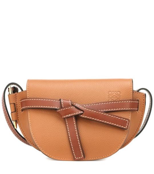 Loewe Gate Small leather crossbody bag in brown