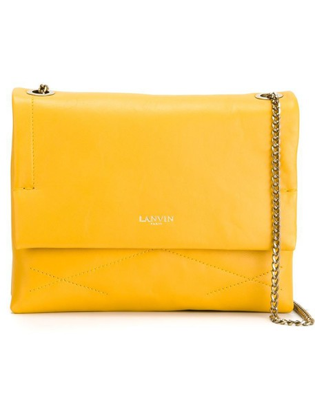 lanvin cross bag yellow orange