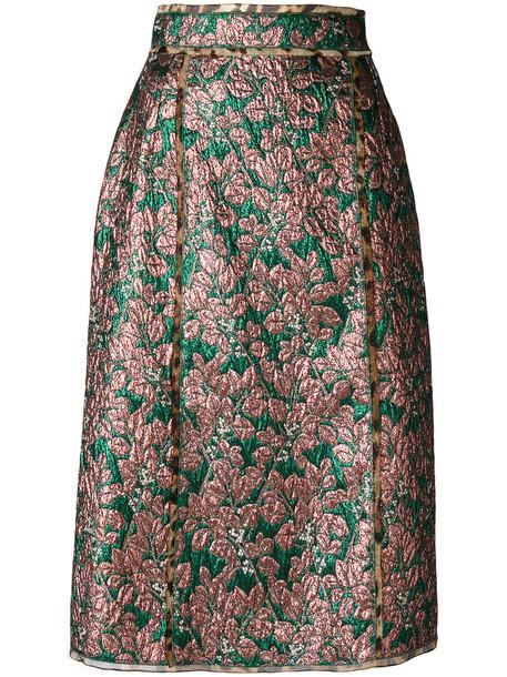 Dolce & Gabbana skirt midi skirt metallic women midi spandex silk