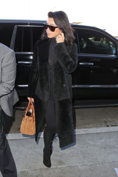bag kim kardashian coat shoes