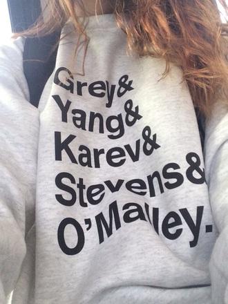 sweater grey's anatomy izzie stevens alex karev meredith grey cristina yang george o'malley