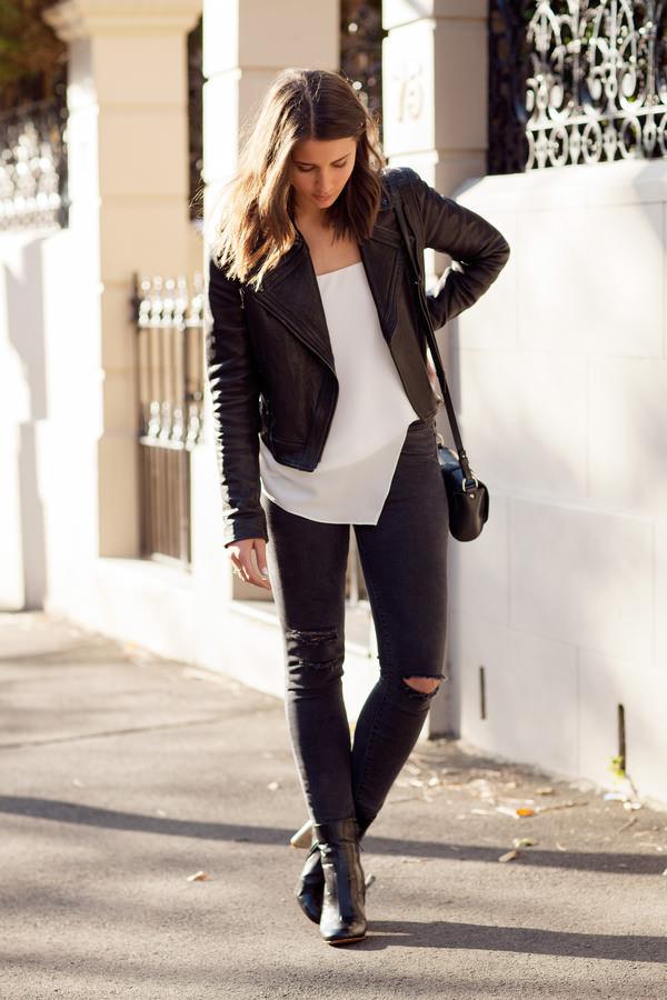 harper & harley jacket jeans shoes bag ripped jeans