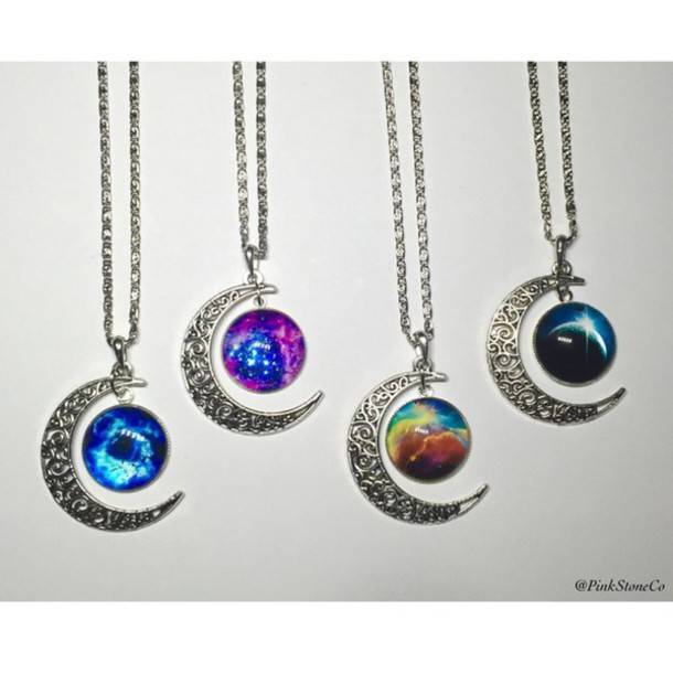 jewels necklace moon necklace moon stone silver jewelry