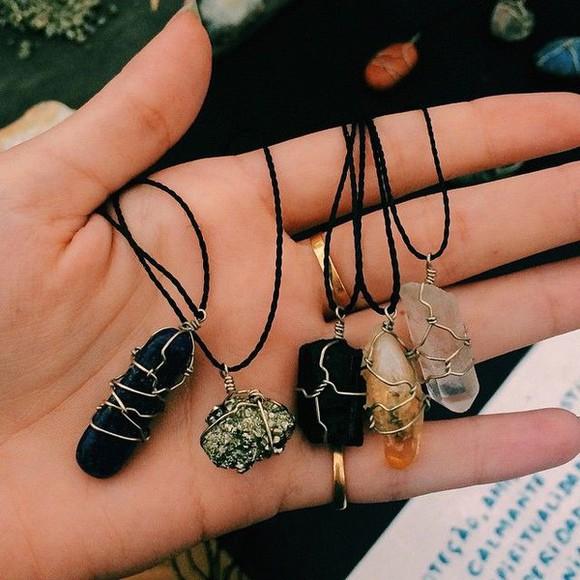 jewels boho necklace rocks