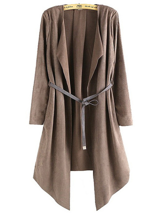 coat brenda shop jacket long jacket khaki coat open front fall outfits