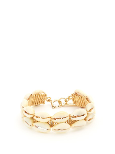 Isabel Marant shell embellished gold jewels