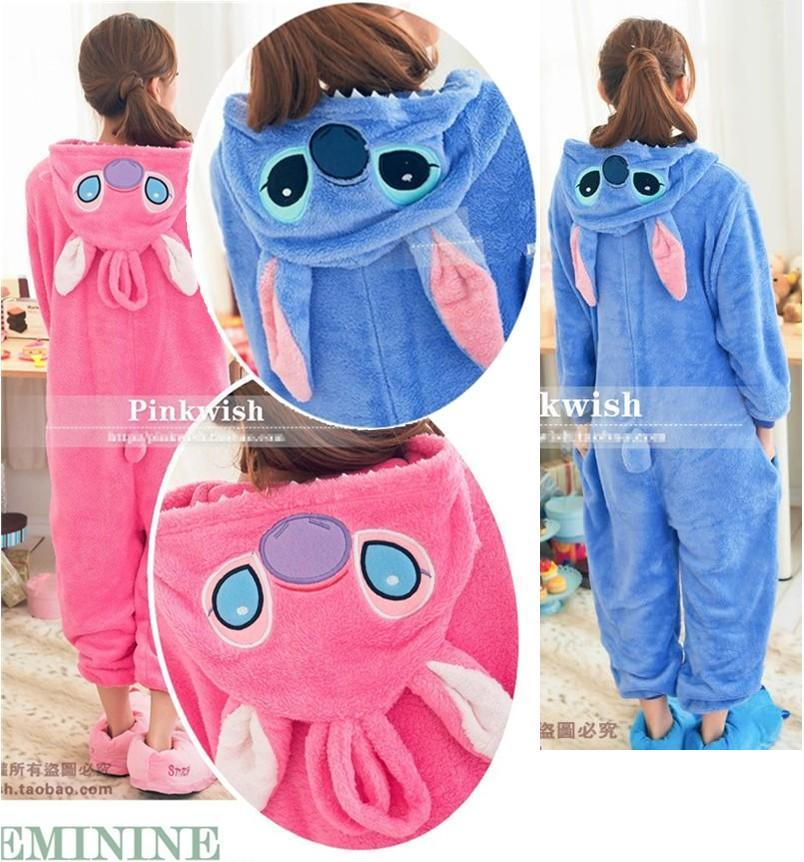 HOT Unisex Kigurumi Anime Cosplay Costume Pajamas Fancy Dress Stitch Onesie | eBay