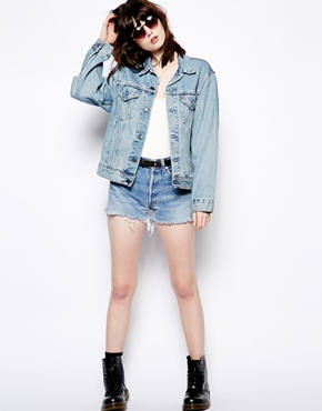 Pop Boutique | Pop Boutique Vintage Denim Jacket at ASOS