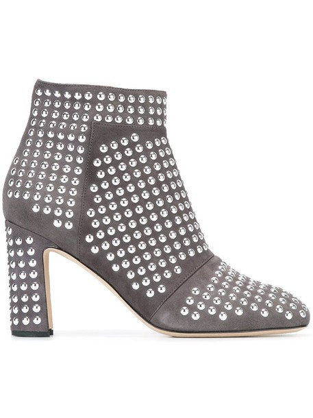 Christopher Kane studded ankle boots in grey