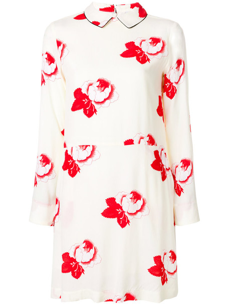 Ganni dress print dress rose women nude print