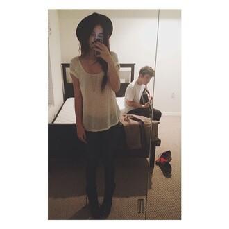 shirt blouse acacia brinley t-shirt hat black