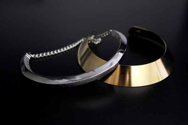necklace neck cuff gold necklace metal metallic jewels