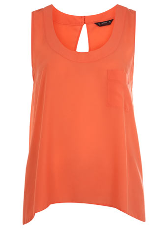 Petites coral pocket vest