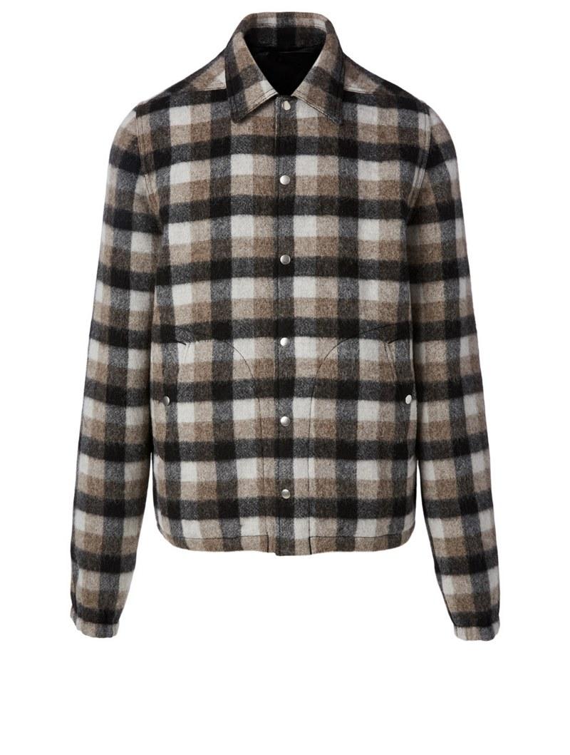Wool Jacket In Plaid Print