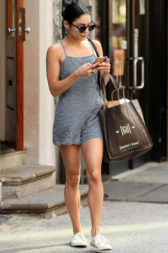 romper summer outfits vanessa hudgens sneakers summer