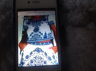 romper blue & white shorts & top boho twin set crop top & shorts s
