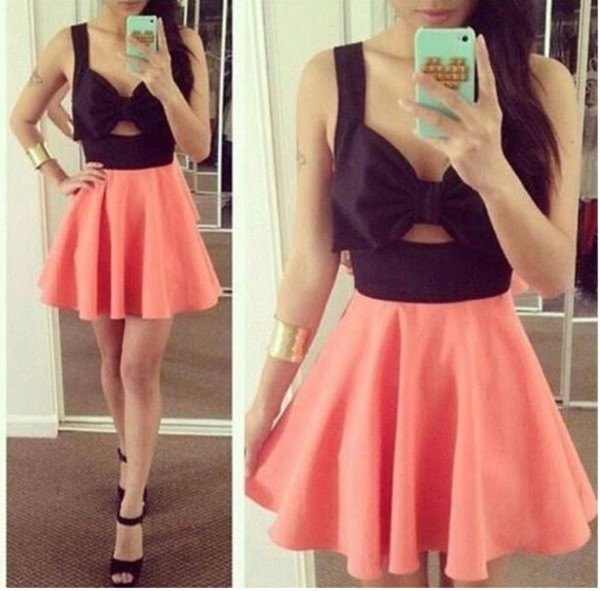 dress open back bow dress mini dress party dress graduation dress short dress skirt