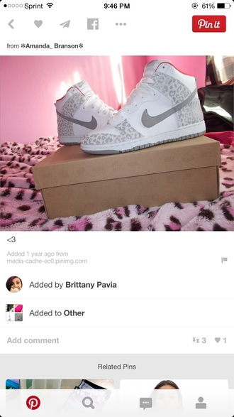 shoes white and grey leopard print high top sneakers