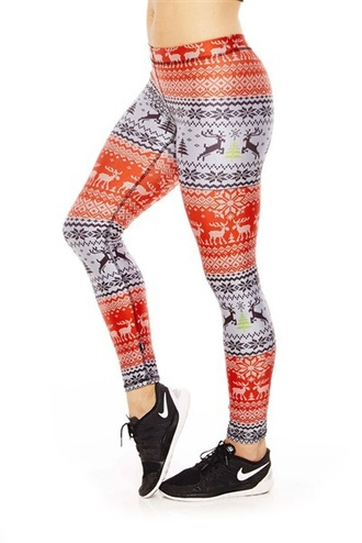 leggings tights printed leggings workout leggings fair isle yoga pants sweater leggings