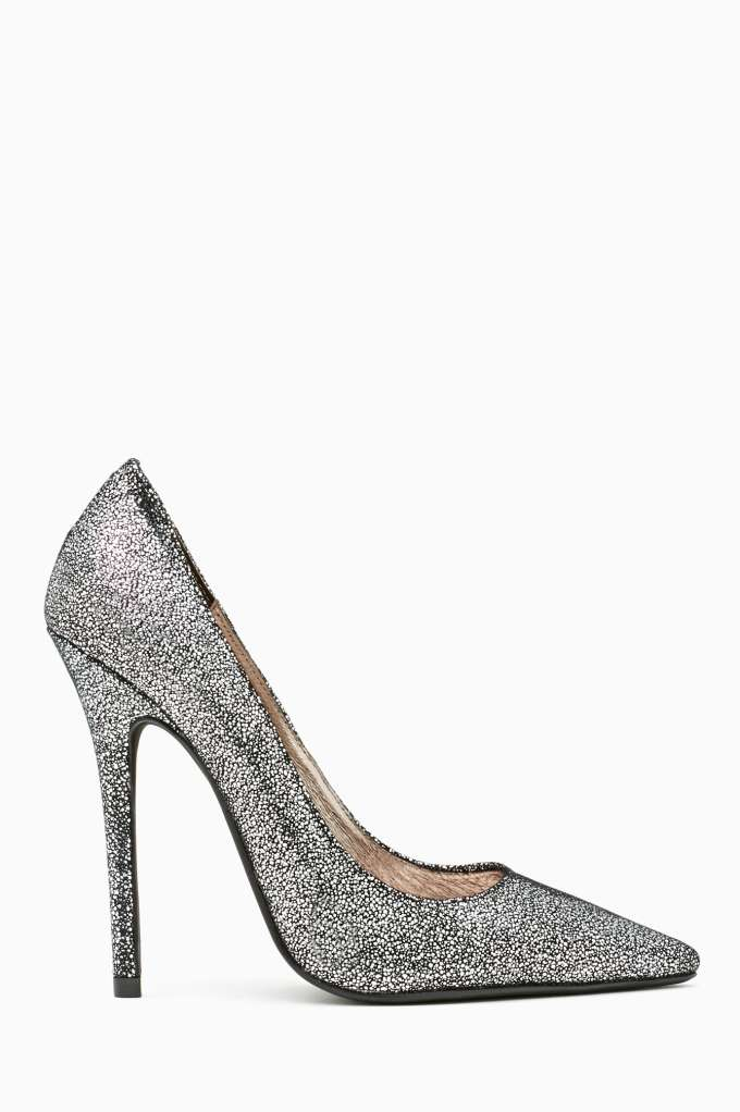 Jeffrey Campbell Darling Pump - Metallic Pebble in  Shoes Heels at Nasty Gal