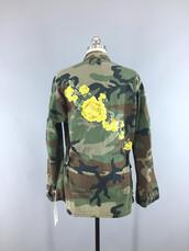 coat,fashion,jacket,vintage jacket,vintage coat,army green,camouflage,camouflage camo coat,embroidered,floral embroidery,floral embroidered,floral camo,embroidered camo,embroidered camouflage,vintage camo,vintage fashion,camouflage coat,camo jacket,embellished jacket,embellished,floral,thisbluebird