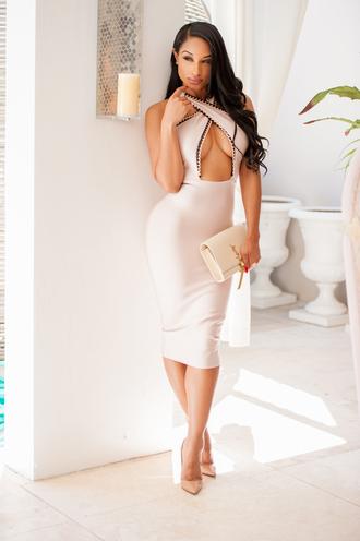 dress halter dress cut out bodycon dress