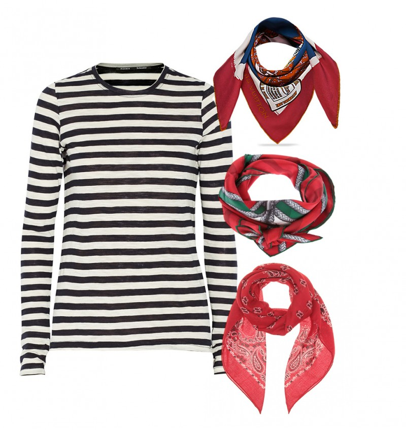 LOVESTORY: STRIPED KNIT & FOULARD - A PORTABLE PACKAGE