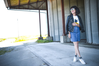 le dressing de leeloo blogger button up skirt denim skirt perfecto
